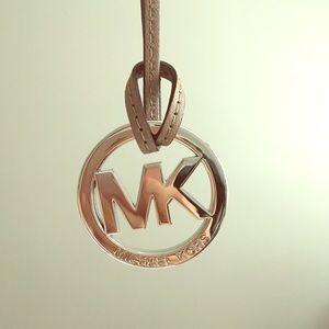 Michael Kors keychain emblem logo charm